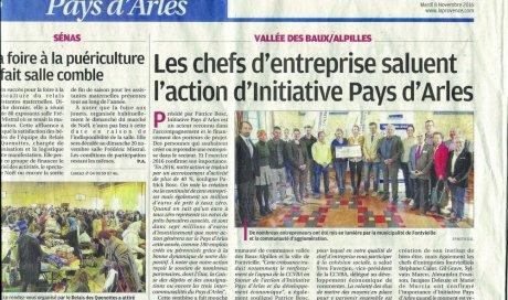 Article dans le journal La Provence – 8 novembre 2016