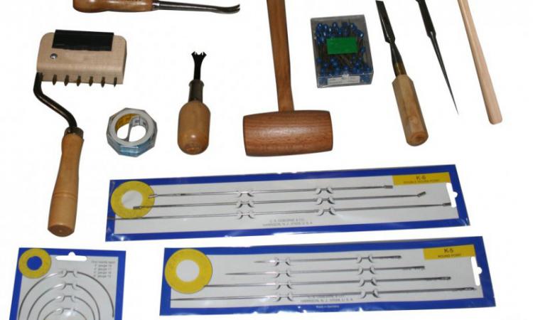 Les outils du tapissier